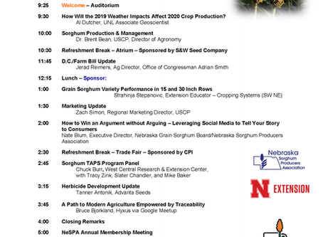 Check out the Program for the 2020 Sorghum Symposium. Register Today!