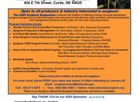 Register for the 2020 Sorghum Symposium!