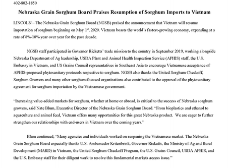 NGSB Praises Agreement with Vietnam
