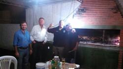 Enjoying a traditional Argentine BBQ
