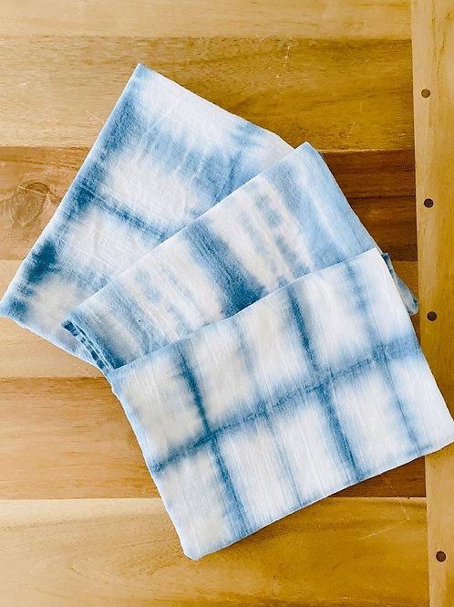 Indigo Flour Sack Towels: Set of 3