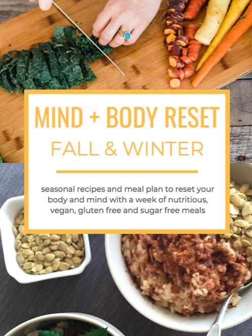 Fall & Winter Reset Meal Plan