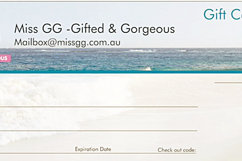 GIFT CERTIFICATE $25 .00