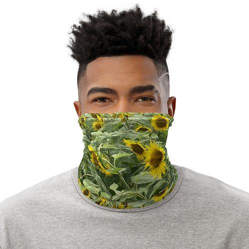 All-Over Sunflower Print Neck Gaiter
