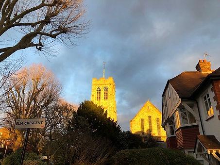 St. Stephen's W5 in sunset.jpg