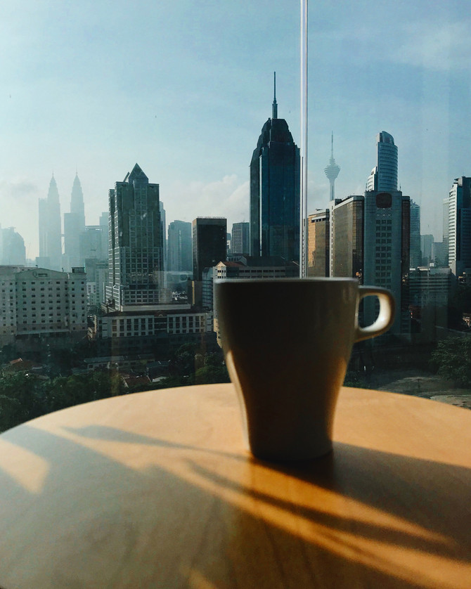 Sunday morning coffee with a view of KL City