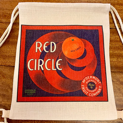 Storm & Co Red Circle & Raincross Reversible Bag