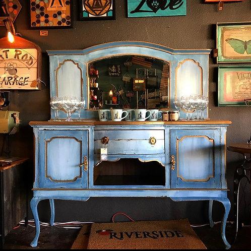 Blue Water Color Vintage Buffet