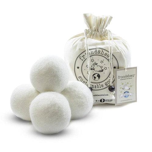 White Eco Friendsheep Dryer Balls