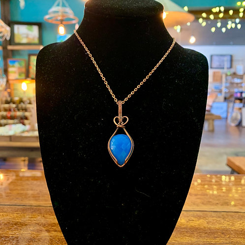 Blue Chalcendony Necklace