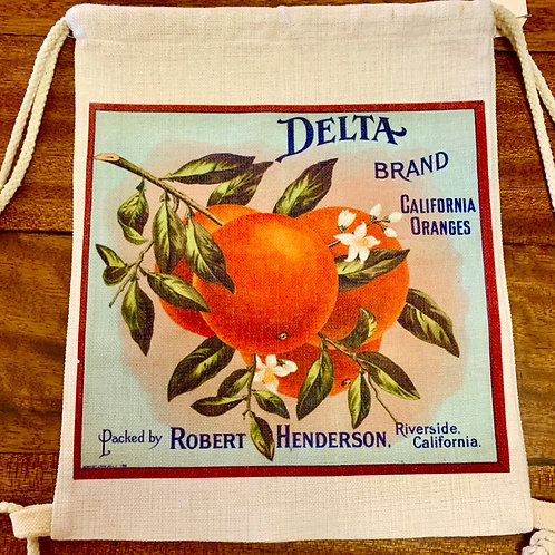 Storm & Co Oranges & Raincross Reversible Bag