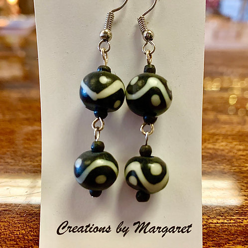 Black & White Bead Earrings