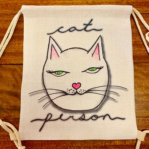 Storm & Co Cat Person Reversible Bag