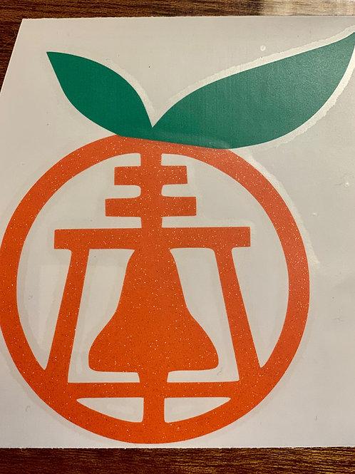 Orange Raincross Decal