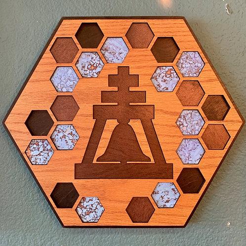 Raincross Double Hexagon Wall Art