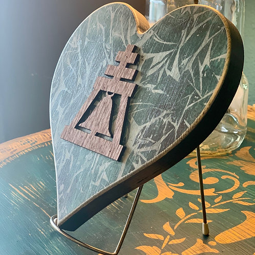Wood Raincross Heart