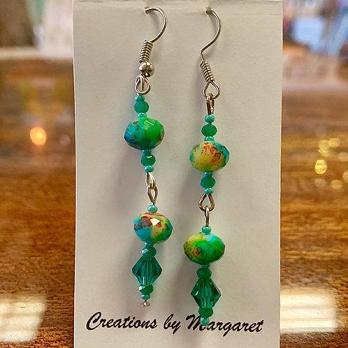 Multi-color Bead Earrings