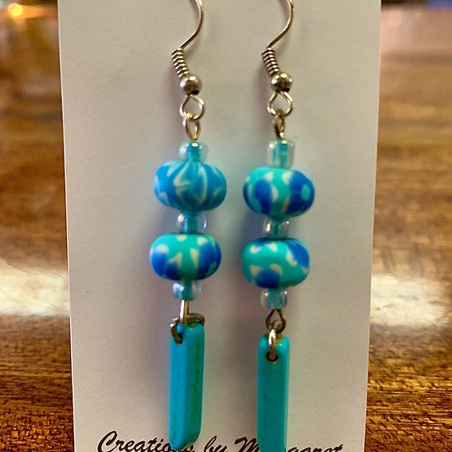 Turquoise Floral Earrings