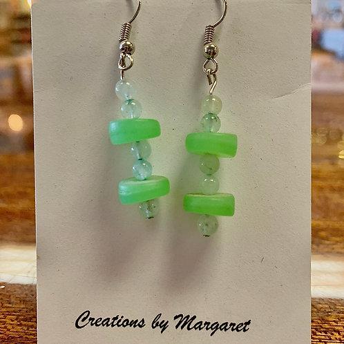 Green Multi-bead Earrings