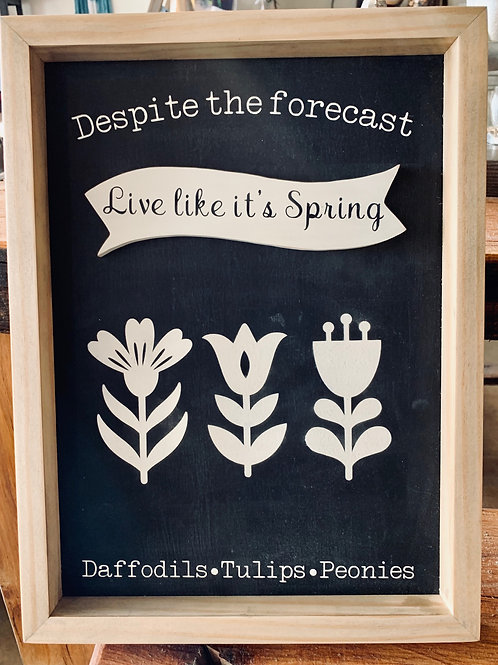 Live Like it's Spring Wall Art