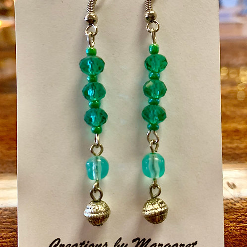 Green & Blue Bead Earrings