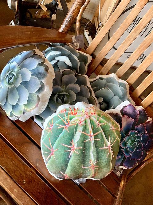 Linen Succulent Pillow