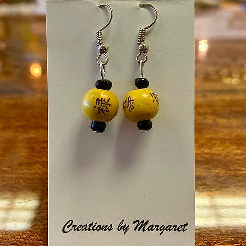 Yellow Bead Earrings