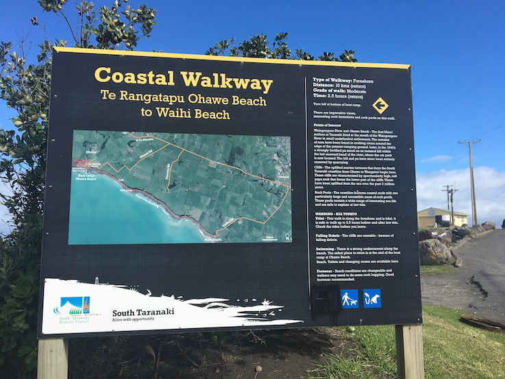 You can complete part of the Coastal Walkway - Ohawe to Waihi. Dogs required on lead past Ohawe beach.