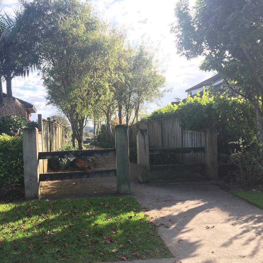 Entrance on Te Wharau Drive