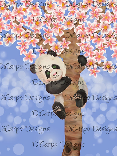 Panda on Cornflower