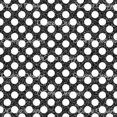 Black & White Glitter Dots