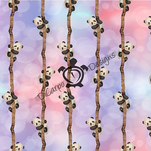 Tree Pandas on Watercolor