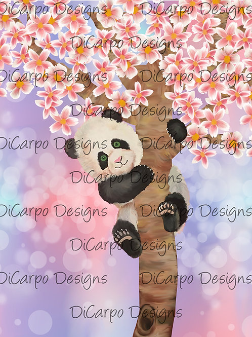 Panda on Watercolor