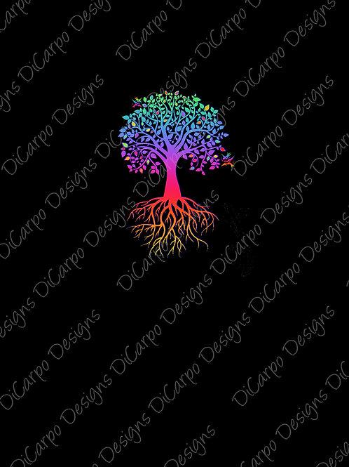 Panel - Detailed Tree on Black