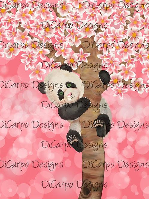 Panda on Pink