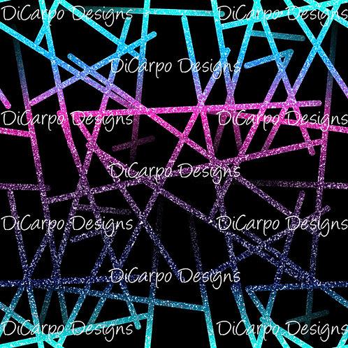 Jewel Gradient Glitter Lines