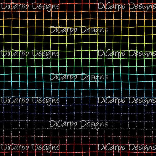 Black Bold Glitter Gradient Grid