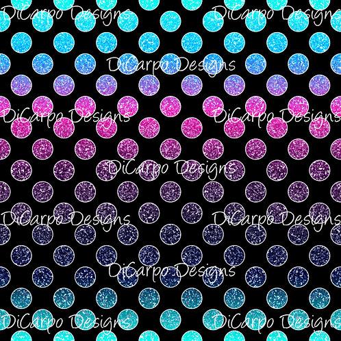Jewel Gradient Glitter Dots