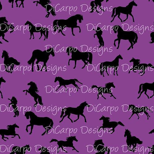 Plum Tossed Horses