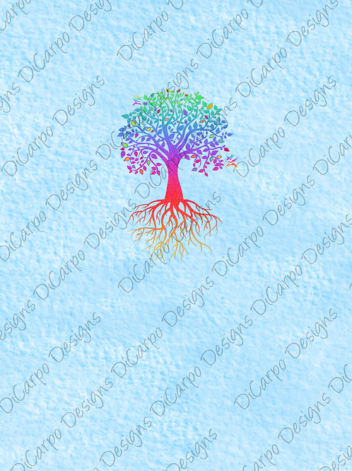 Panel - Detailed Tree on Canvas Sky