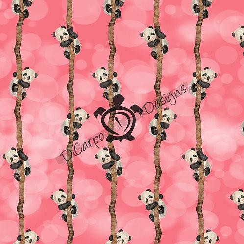 Tree Pandas on Pink