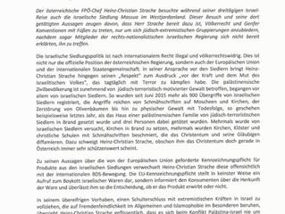 PM: FPÖ-Chef H.C. Strache besuchte israelische Siedlung Massua im Westjordanland