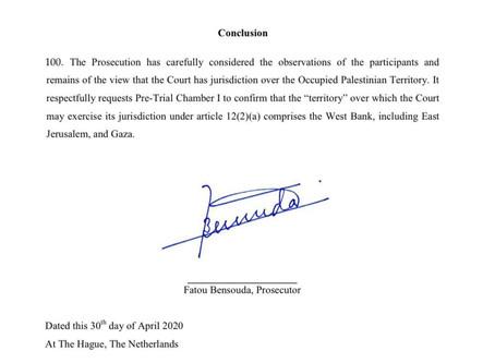 Presseaussendung:  Generalstaatsanwältin Bensouda: Internationaler Strafgerichtshof ist für Palästin