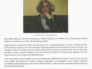 Zum Ableben von Paula Abrams Hourani