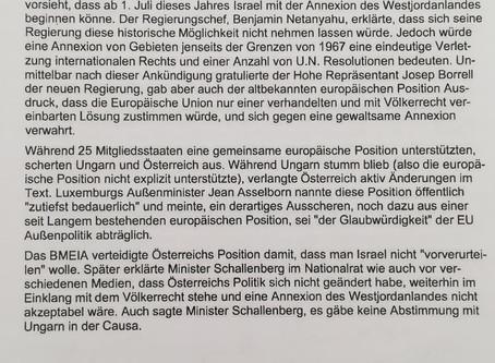 Parlamentarische Anfrage betreffend der österreichisch-ungarischen Allianz, die gemeinsame europäisc