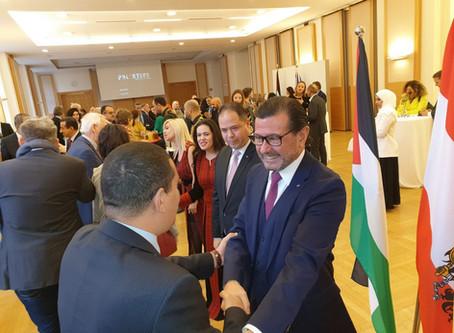 Empfang der Vertretung des Staates Palästinas in der Diplomatischen Akademie
