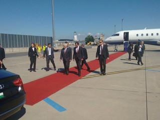 Präsident Mahmoud Abbas auf Kurzbesuch in Wien