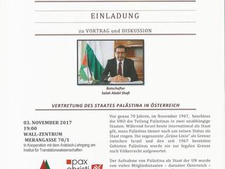 Veranstaltungshinweis: Vortrag von Botschafter Salah Abdel Shafi in Graz