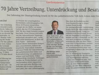 Gastkommentar von Botschafter Salah Abdel Shafi in der Wiener Zeitung: