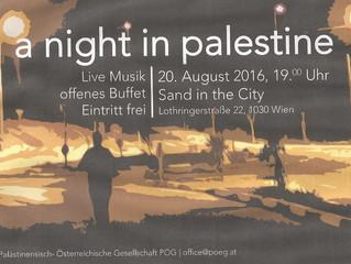 """Veranstaltungshinweis: """"A Night in Palestine"""" am 20. August"""